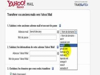 Importez vos mails de GMail ou Hotmail sur Yahoo