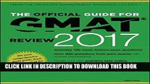 Best Seller The Official Guide for GMAT Review 2017 with Online Question Bank and Exclusive Video