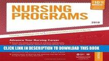 Ebook Nursing Programs - 2010: Advance Your Nursing Career (Peterson s Nursing Programs) Free Read