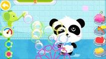 Little Cute Baby Panda Learning Bath Time - Baby Pandas Bath Time - Babybus Kids Games