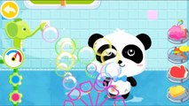Little Cute Baby Panda Learning Bath Time - Baby Pandas Bath Time - Babybus Kids Games