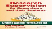 Ebook Research Supervisors for Supervisors and their Students: Research Textbook Collection Free
