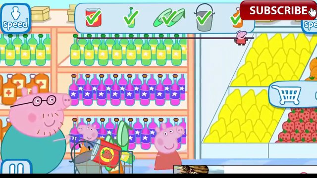 Peppa Pig Grocery Shopping Daddy Pig With George Go Shopping