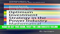 [Free Read] Optimum Investment Strategy in the Power Industry: Mathematical Models (SpringerBriefs