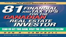 [Free Read] 81 Financial and Tax Tips for the Canadian Real Estate Investor: Expert Money-Saving