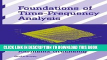 Collection Book Foundations of Time-Frequency Analysis