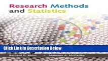Ebook Research Methods and Statistics Free Online