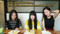 COREANAS PROBANDO COMIDAS MEXICANAS/ Korean Girls Try Mexican Food