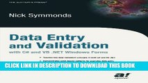 [Read PDF] Data Entry and Validation with C# and VB. NET Windows Forms Download Online
