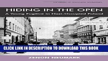 [PDF] Hiding in the Open: A Young Fugitive in Nazi-Occupied Poland (Library of Holocaust