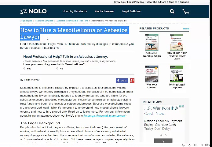 Asbestos Lawyers – Mesothelioma Lawyer