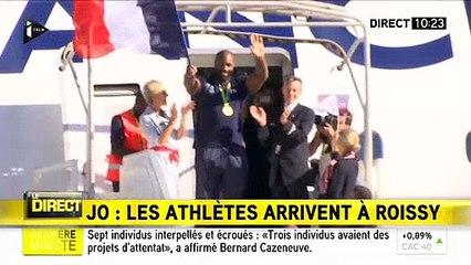 JO RIO 2016: Les athlètes français sont arrivés à Roissy