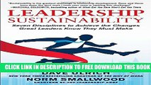 New Book Leadership Sustainability: Seven Disciplines to Achieve the Changes Great Leaders Know