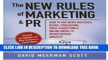 New Book The New Rules of Marketing and PR: How to Use News Releases, Blogs, Podcasting, Viral