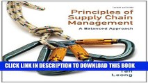 Collection Book Principles of Supply Chain Management: A Balanced Approach (with Premium Web Site
