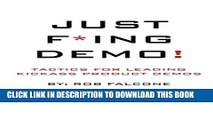 New Book Just F*ing Demo!: Tactics For Leading Kickass Product Demos