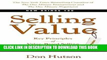 New Book Selling Value: Key Principles of Value-Based Selling