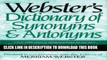 Read Now Dictionary of Synonyms Antonyms Download Book