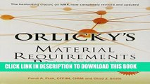 Collection Book Orlicky s Material Requirements Planning, Third Edition