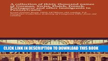 New Book A collection of thirty thousand names of German, Swiss, Dutch, French, Portuguese and