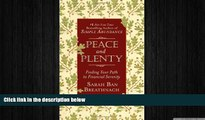 FREE PDF  Peace and Plenty: Finding Your Path to Financial Serenity  FREE BOOOK ONLINE
