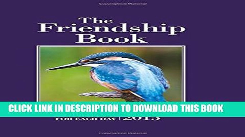 New Book The Friendship Book 2015: A Thought for Each Day