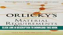 New Book Orlicky s Material Requirements Planning, Third Edition