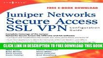 New Book Juniper Networks Secure Access SSL VPN Configuration Guide