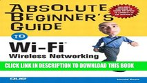 New Book Absolute Beginner s Guide to Wi-Fi Wireless Networking