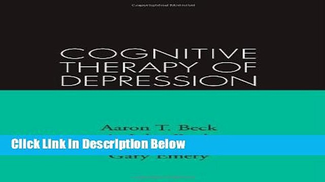 [Best Seller] Cognitive Therapy of Depression (Guilford Clinical Psychology and Psychotherapy