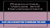 [PDF] Resources, Values and Development Full Colection