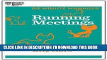 [PDF] Running Meetings (HBR 20-Minute Manager Series) (20 Minute Manager) Full Colection