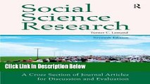 [Get] Social Science Research: A Cross Section of Journal Articles for Discussion   Evaluation
