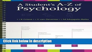 Get A Student s Aa€ Z of Psychology Free New