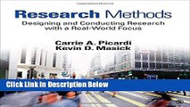[Get] Research Methods: Designing and Conducting Research With a Real-World Focus Online New