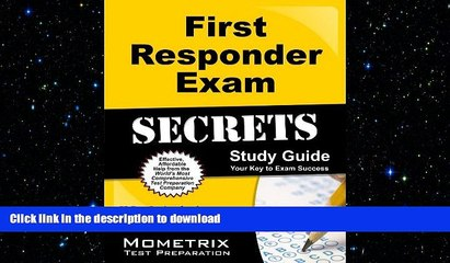 read the new book first responder exam secrets study guide fr test review for the first responder