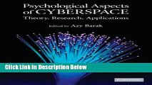 [Best] Psychological Aspects of Cyberspace: Theory, Research, Applications Free Books