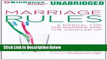 [Best] Marriage Rules: A Manual for the Married and the Coupled Up Online Books