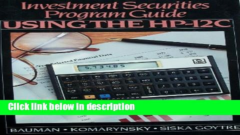 [Get] Investment Securities Program Guide: Using the Hp-12C Free New