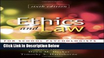 [Best] Ethics and Law for School Psychologists Online Ebook