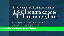 [Reads] Foundations of Business Thought Free Books
