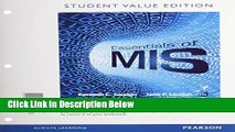 [Fresh] Essentials of MIS, Student Value Edition (11th Edition) New Books