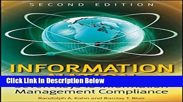 [Reads] Information Nation: Seven Keys to Information Management Compliance Free Books