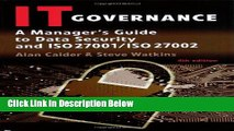 [Fresh] IT Governance: A Manager s Guide to Data Security and ISO 27001 / ISO 27002 Online Ebook