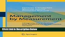 [Best] Management by Measurement: Designing Key Indicators and Performance Measurement Systems