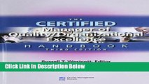 [Fresh] The Certified Manager of Quality/organizational Excellence Handbook, Third Edition New Ebook