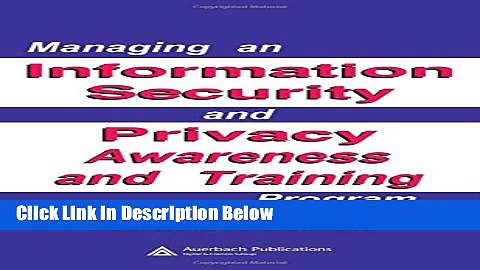 [Fresh] Managing an Information Security and Privacy Awareness and Training Program Online Ebook