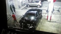 serious gas station shootout caught on a surveillance camera