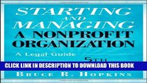 New Book Starting and Managing a Nonprofit Organization: A Legal Guide