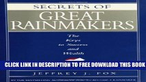 Collection Book Secrets of Great Rainmakers: The Keys to Success and Wealth